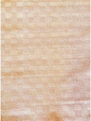 Trendy Cotton Rug - Diamond - Orange/White - 110x160