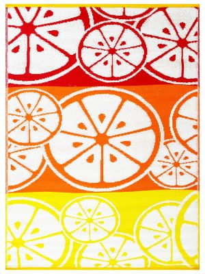 Reversible Indoor/Outdoor Mats - Chatai-2690-Orange Multi-90x150