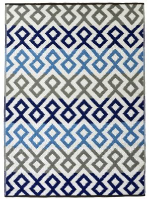 Reversible Indoor/Outdoor Mats - Chatai-2696-Blue Grey-90x150