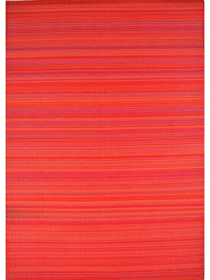 Reversible Indoor/Outdoor Mats - Chatai Rongoli - Red-90x150