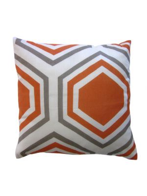 Honeycomb Printed Cushion - 1036 - Apricot - 45x45